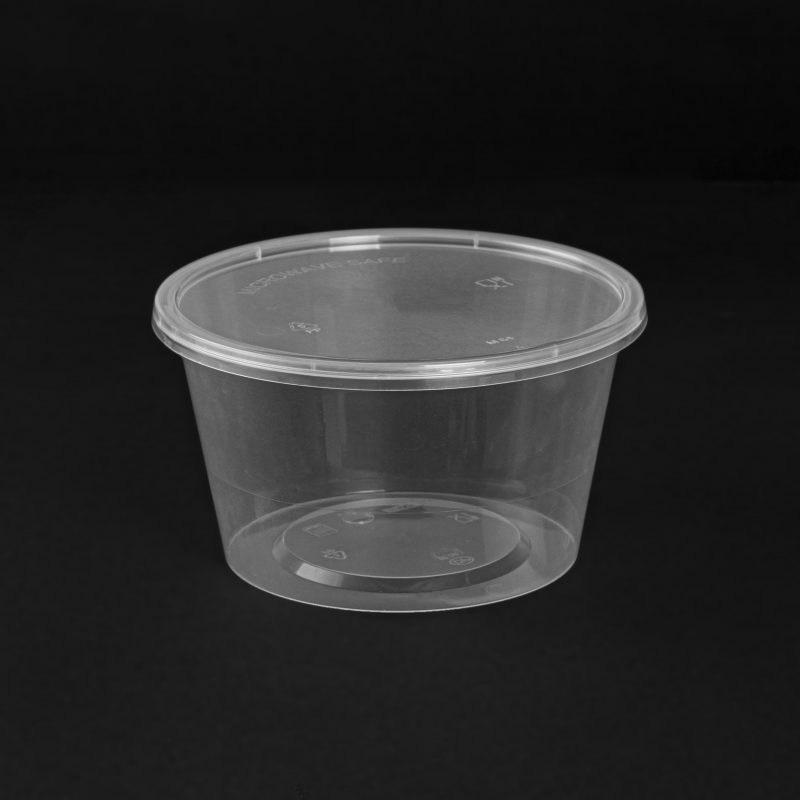 Round disposable food containers