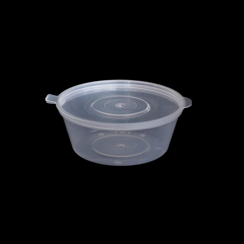 Plastic hinged container 1